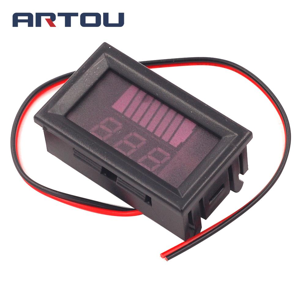 DC 12V-60V ACID Red Digital Lead Battery Capacity Indicator Charge Level Lead-acid LED Tester Voltmeter