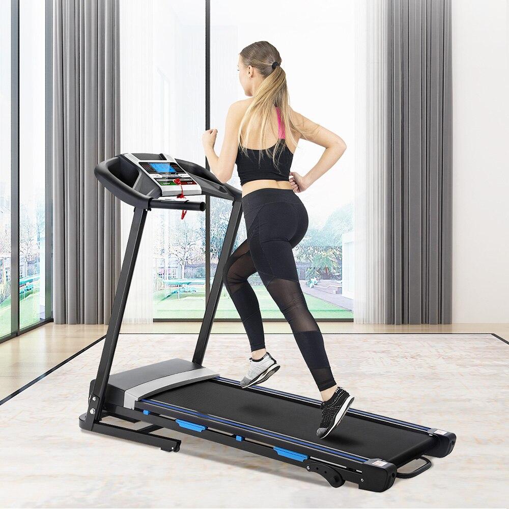 Tapis roulant motorisé électrique à la maison pliable 12 programmes prédéfinis tapis roulants de musculation équipements de Fitness