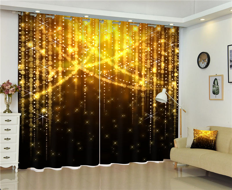 Luxury Blackout 3D Window Curtain Living Room Girls Bedroom Drapes Cortinas Rideaux Customized Size Dazzle Bar Photo Pillowcase