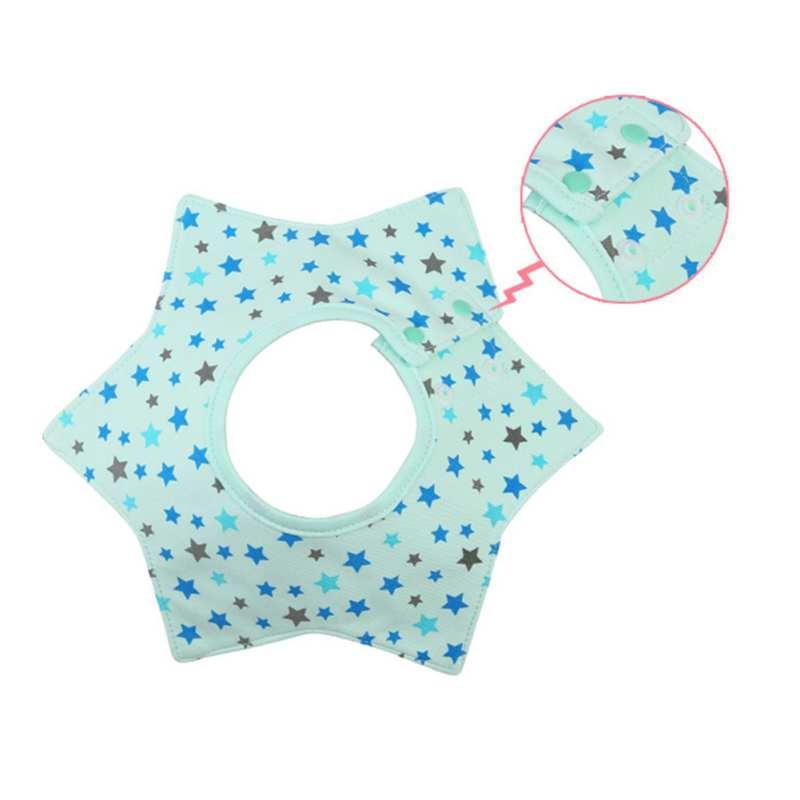 Baby Bibs & Burp Cloths Flower Layer Waterproof Slobber Octagonal Circular Towel Baby Bib Swivel Snap Rice Bag 2018 Newest