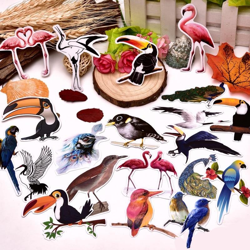 22/45pcs Kawaii Cute  Birds Stickers  For Luggage Skateboard  /DIY Scrapbooking Sticker/waterproof Stickers For The Diary Kids