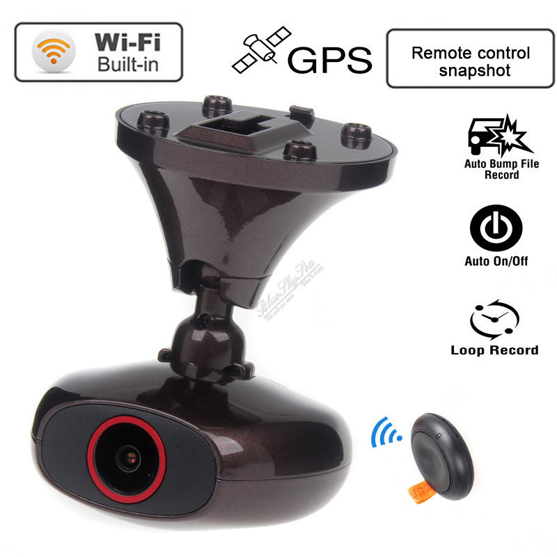 imágenes para Original M6 DDPAI Plus Car DVR HD 1440 P WIFI Coche Dashcam Instantánea Remoto caja Negro Video Recorder DVR GPS logger