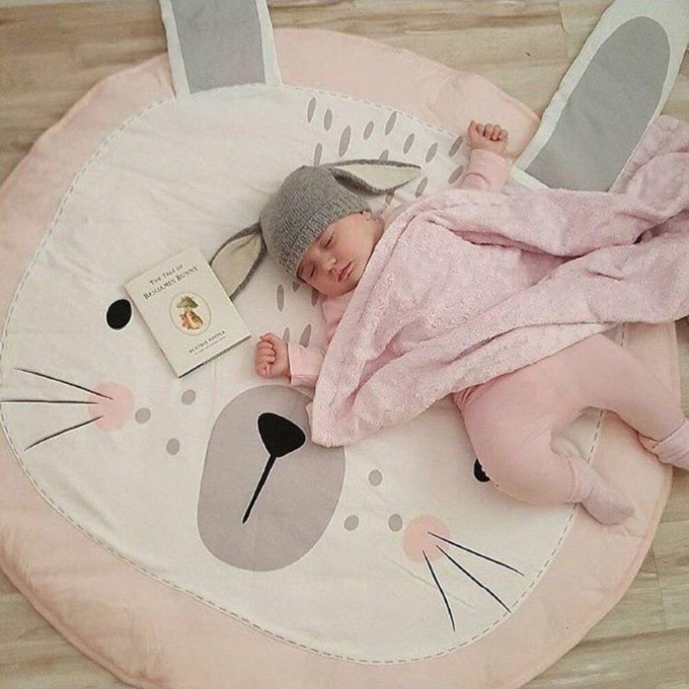 Nette boden kriechende umfassende teppich baby neugeborenen bunny teppich bär fotografie spielen creeping matten kinderzimmer dekoration