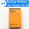 Runbo X5 Battery Original 4200mAh Battery Polymer Li-ion Worldwide Runbo x3 X5 X5+ X6 Q5 Q5S NFC Phone In Stock