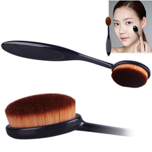 Pro Cosmetic Makeup Face Powder Blusher Toothbrush Curve Foundation Brush