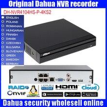 Dahua original  DH-NVR4104HS-P-4KS2 ip network video recorder HD H.265 4ch connected NVR video recorder NVR4104HS-P-4KS2