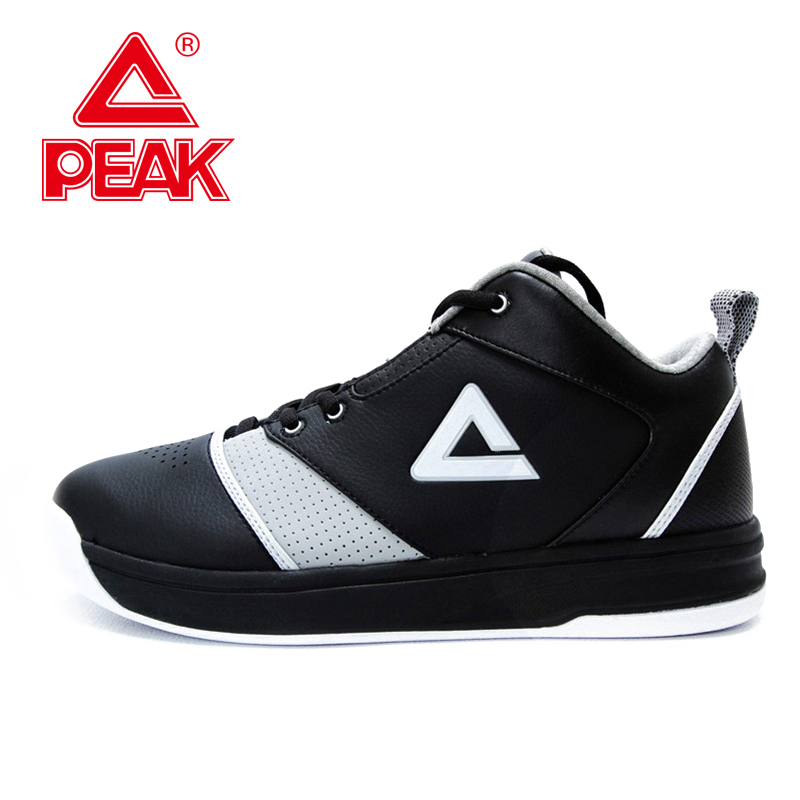 PEAK SPORT Medium Cut Breathable Athletic Training Shoes Men Basketball Shoes Wear-resistant Non-Slip Competitions Ankle Boots long jump professional breathable spike running shoe male slip resistant wear resistant sport shoes men female high elastic plus