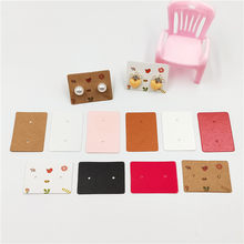 Printed and Blank Paper Cardboard for Women Stud Earrings Jewelry Accessories Display Packaging Cards 100Pcs/Lot 3.5x2.5cm(China)