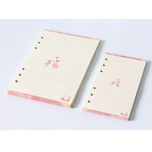A5 A6 loose-leaf notebook refills 6 holes rings binder spiral diary planner inner inserts monthly weekly plan to do list paper