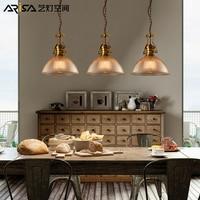 Nordic Cafe Hanging Lights Novelty Living Room Fixtures Restaurant Bar Retro Lighting Modern Iron LED Dining