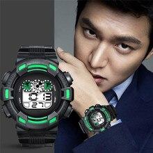 Perfect Gift Mens LED Digital Date Alarm Waterproof Rubber Sports Army Watch Wristwatch lervert dropship Jan9-17 H0