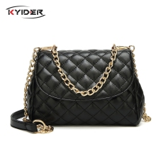 2019 Famous Popular Design New Women Luxury Quilted Plaid Chains Messenger Bag Brand Name Diamond Lattice Bag Crossbody Bags elegant women s crossbody bag with metallic and chains design