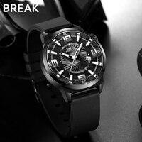 BREAK Men Top Luxury Brand Unique Creative Fashion Casual Japan Quartz Sports Wristwatch Calendar Gift Dress Watches for Men