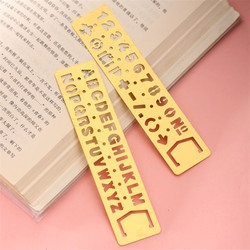 Kawaii metall hohl gerade herrscher Zahl Brief muster Lesezeichen DIY zeichnung vorlage werkzeug schule schreibwaren papelaria 06009