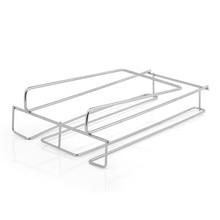 Kitchen Stainless Steel Storage Rack Dish Holder Goblet Shelf Cup Hanger Cupboard Hanging Hook Bathroom Organizer