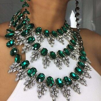 b62fa7a443ec Viennois de oro Color de rosa collar de serpiente para mujer gargantillas  collares de diamantes de imitación de cristal collares de cadena de boda  joyería ...