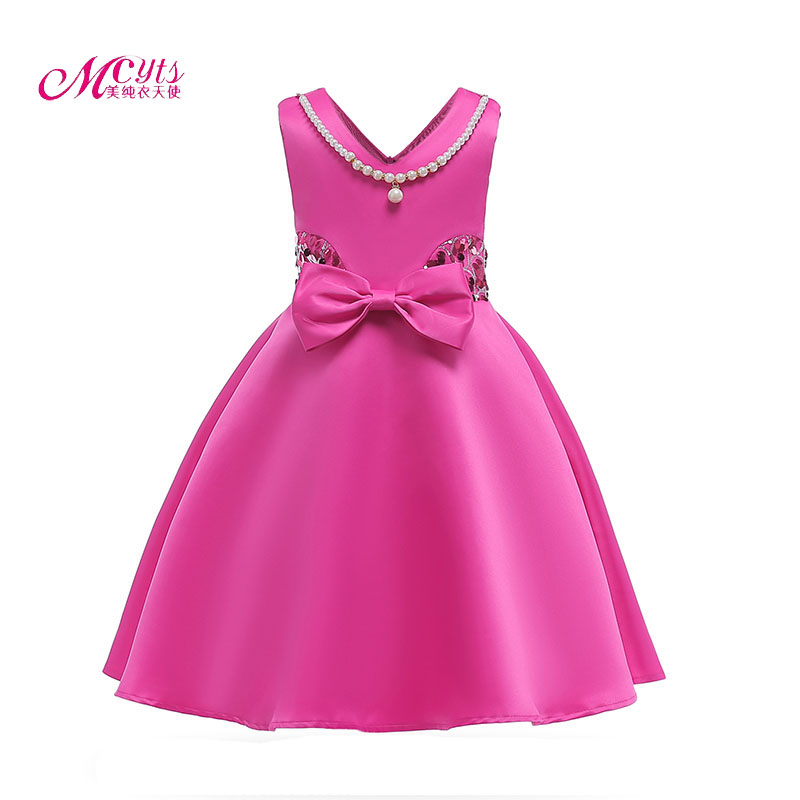Girls Dress Children Clothing Wedding Party Girls Dresses Kids Clothes Bow tie Princess Infant Dress for Girl 3 5 7 8 9 10 Years printio блокнот