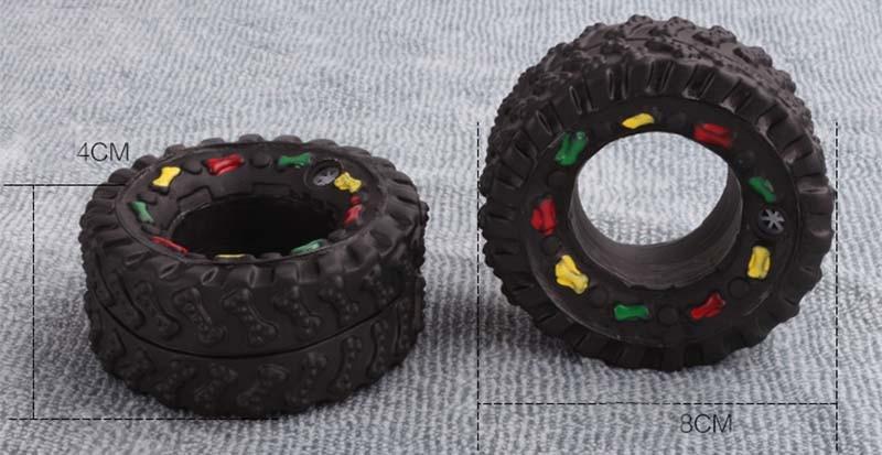 OnnPnnQ Elasticity Tire Dog Cat Toy Squeak Sound Chew Treat Holder Funny Puppy Training molar Toys Dog Interactive Pet Supplies