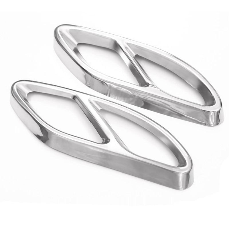 En kaliteli Mercedes Benz GLC için bir B C EClass W205 Coupe W213 W176 W246 2016-17 araba aksesuarı AMG egzoz kapak Trim 304 çelik