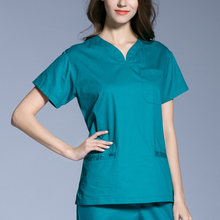 cd8dda67f34 Surgical Cap Hot Sale 2017 New Medical Scrubs Women Short Sleeve Scrub  Uniforms Set Dental Clinic