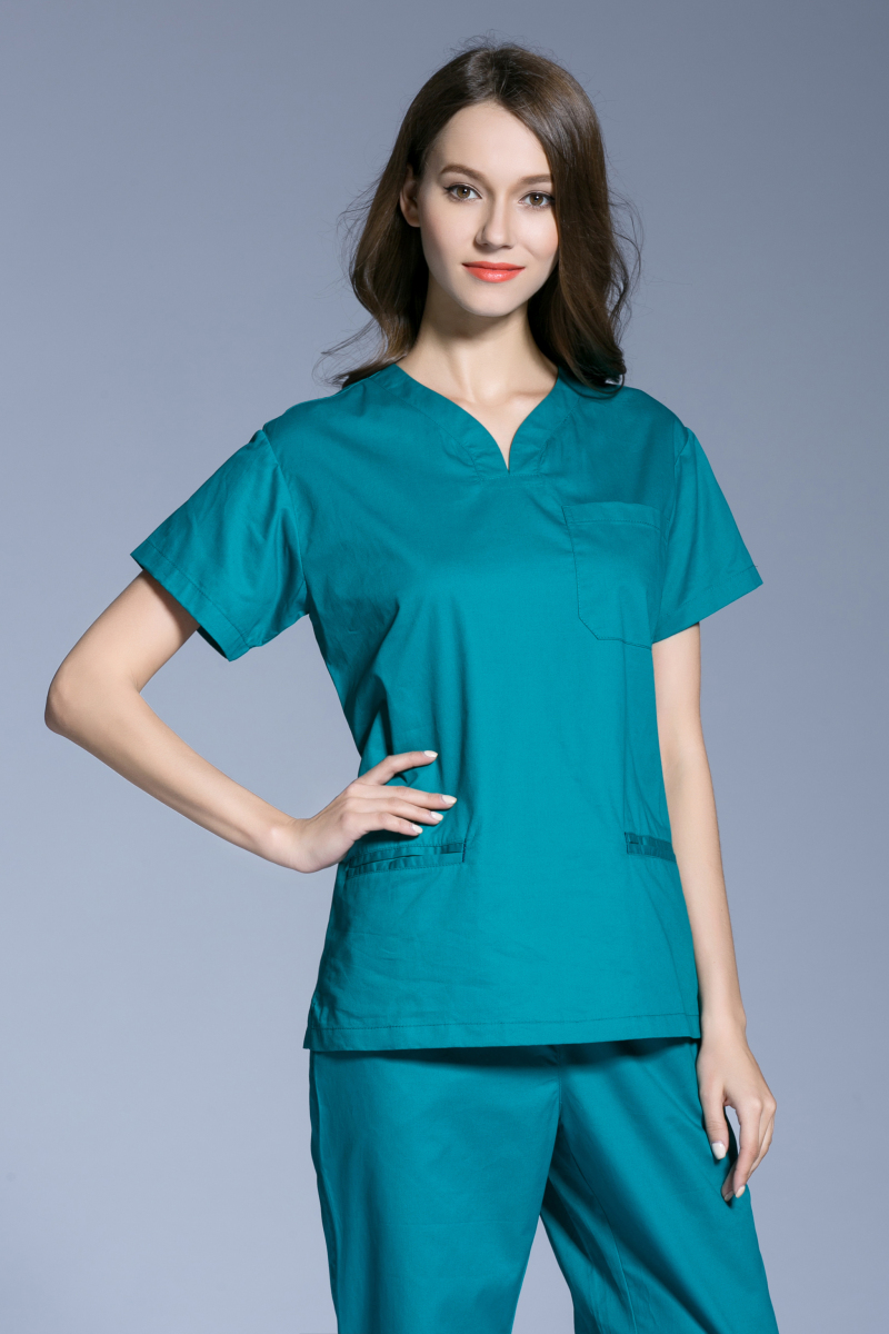 aac9d1f3c23 Surgical Cap Hot Sale 2017 New Medical Scrubs Women Short Sleeve Scrub  Uniforms Set Dental Clinic Surgical Clothes 100% Cotton