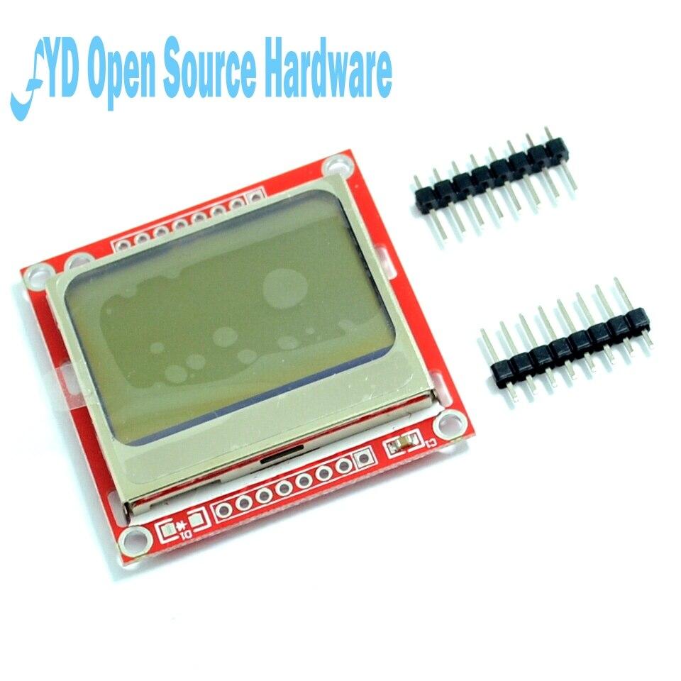 Alta calidad 84X48 84x84 LCD módulo rojo adaptador de contraluz PCB para Nokia 5110 para