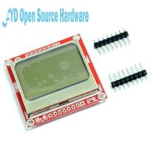 Chất Lượng Cao 84X48 84X84 Module LCD Đỏ Đèn Nền Adapter PCB Cho Nokia 5110 Cho