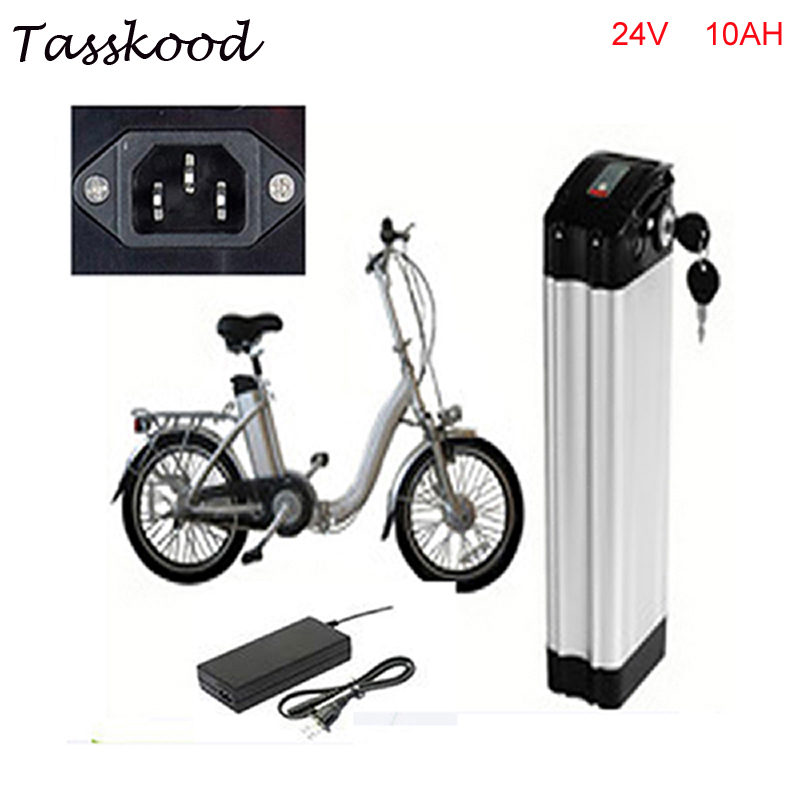 ebike lithium battery 24v 10ah lithium ion bicycle 24v electric scooter battery for kit electric bike 300w with BMS , Charger e bike battery 24v 10ah 350w lithium electric bike scooter battery 24v with 29 4v 2a charger 15a bms free shipping 24v battery