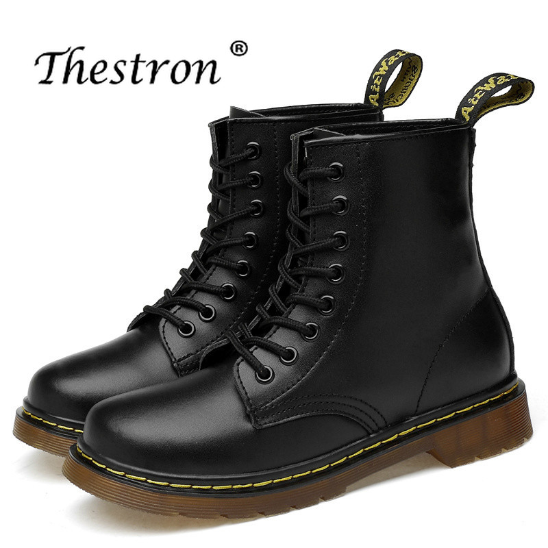 Thestron New Trend 2019 Men Working Safety Boots Luxury Brand Casual Shoes Leather For Anti-Slip Fashion