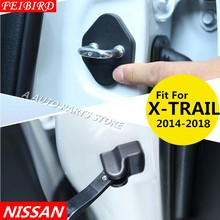 Car Door Lock Decoration Cover Door Check Arm Protection Cover For Nissan X-Trail X Trail T32 Rogue 2014 - 2018(China)