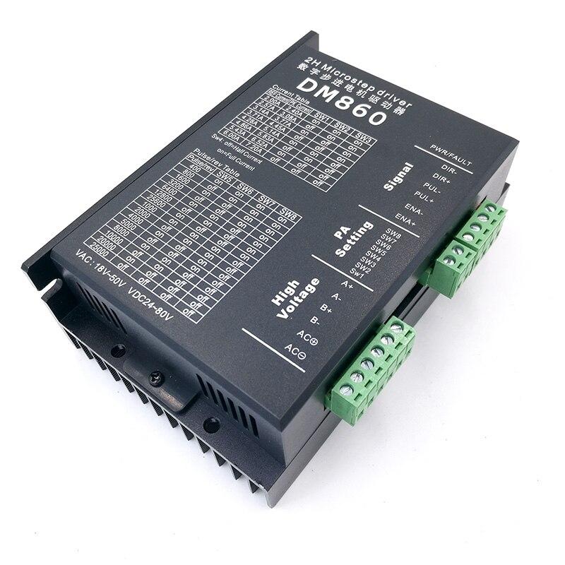 цена на Stepper motor driver cintroller DM860 microstep motor brushless DC motor shell for 57 86 stepper motor Nema23 Nema34