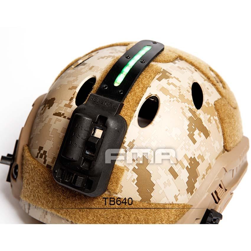 NEW FMA Helmet Strobe Device Night-light Green Light for Outdoor Survival Tactical Helmet Accessories BK/DE new maritime tactical fma helmet abs de for fma paintball tb815 m l free shipping