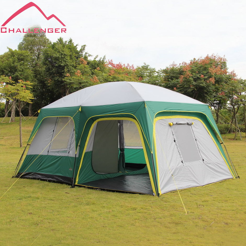 UV 50 2 bedroom 1 living room 6 8 10 12 person beach hiking fishing party base wind/rain proof outdoor camping tent,family tent