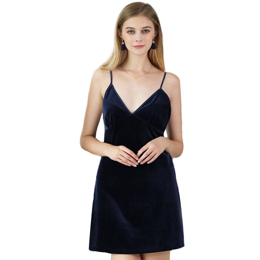 Women Sexy Nightgowns Sleepshirts 2017 Brand New Solid V Neck Nightdress For Woman Lady Home Sleepwear YT362
