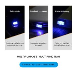 Image 4 - 1/3/4/7 stücke Auto Licht Mini USB Stecker Licht Automotive Interior Atmosphäre Licht Lampe In auto umgebungs Neon Bunte Auto Zubehör