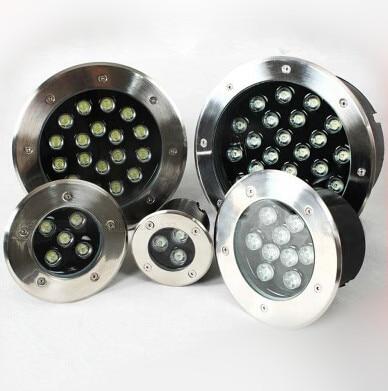 3 W/5 W/7 W/9 W/12 W/18 W/24 W LED lumières enterrées longeant les lumières d'escalier de repose-pieds lampes enterrées carrées IP67 lumières LED extérieures