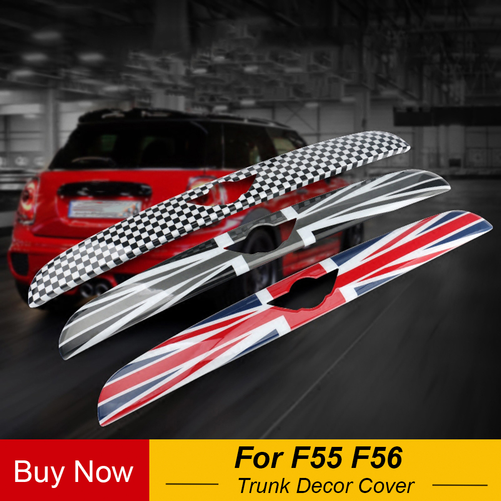 Exterior Rear Trunk Trim Lid Cover Tail Tailgate Door Handle Strip Molding Trim For MINI COOPER F55 F56 Car Styling Accessories