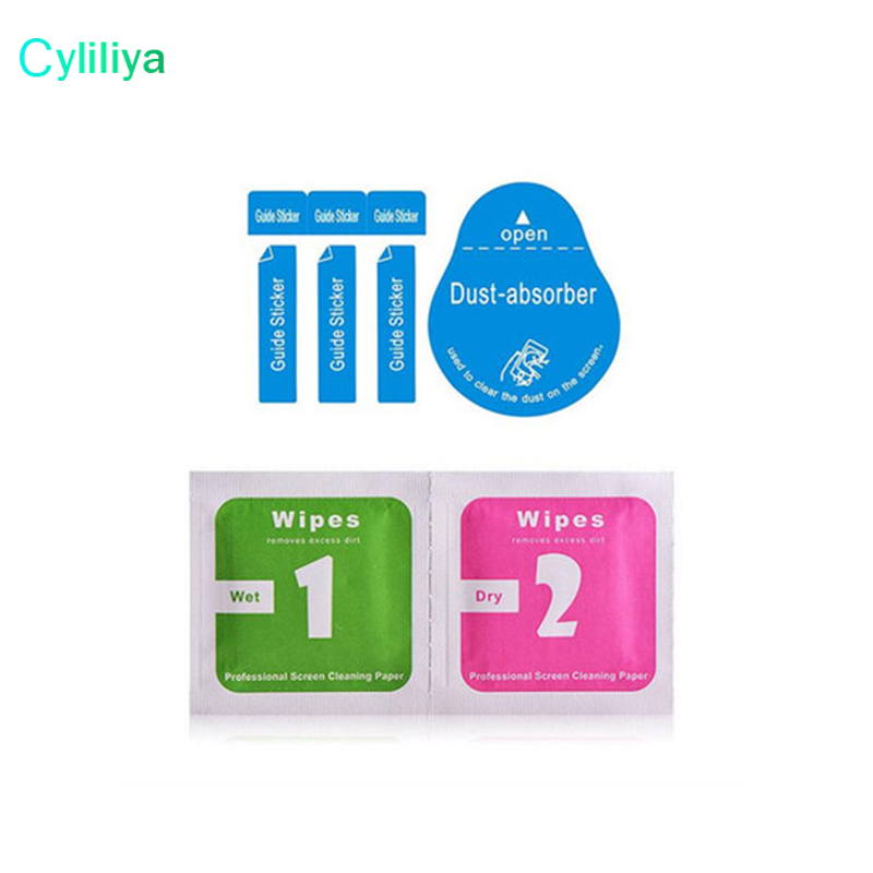 5000pcs Wholesale Cleaning Tools Wet Dry 2 in 1 Wipe Dust Absorber Guide Sticker For Tempered