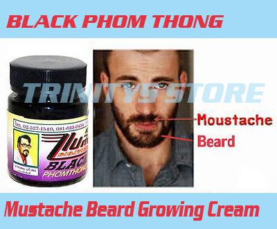 100 Original Thailand Facial Hair Growth Herb Cream Grow Beard