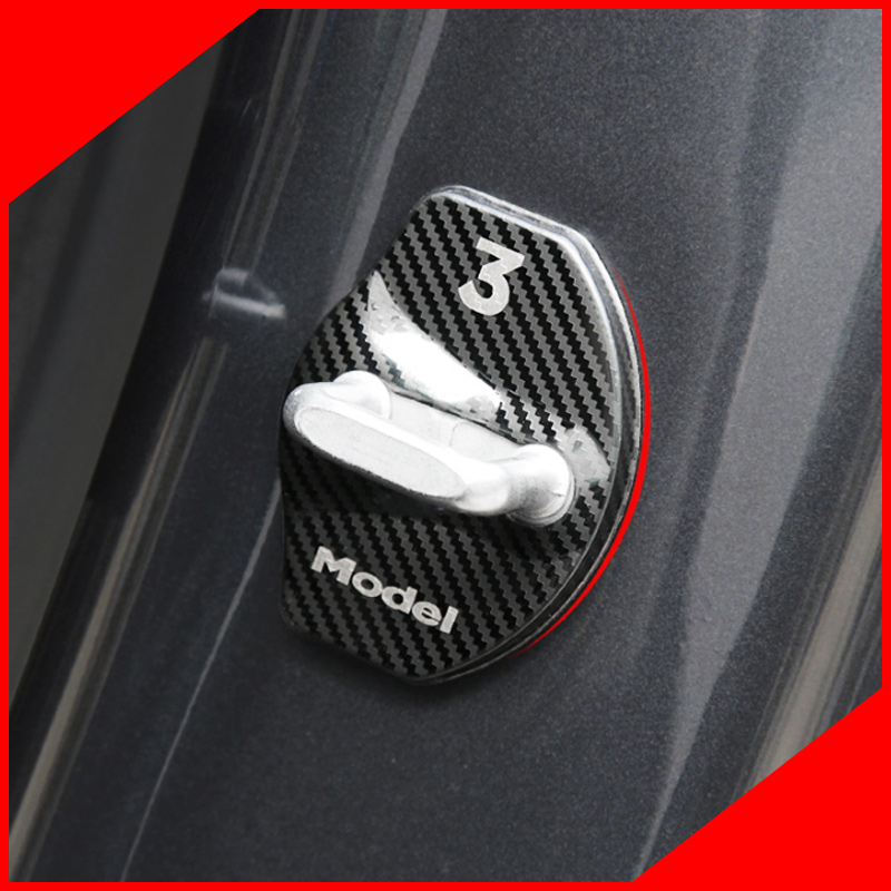 Un peu de changement couvercle de serrure de porte couverture de rouille couvercle de serrure de porte pour Tesla modèle 3 2016-2018 accessoires de voiture