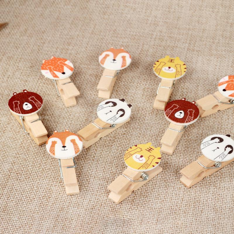 Image 3 - INS Color Hemp Rope Wooden Clip Wedding Fashion Wood Clip Cute Photo Wall Clip Message Notes DIY Photo Wall Craft Decoration-in Photo Albums from Home & Garden
