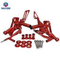 Waase для Ducati Monster 696 795 796 1100 EVO Регулируемый Rider Rearsets Rearset подножка ног колышки (красный)
