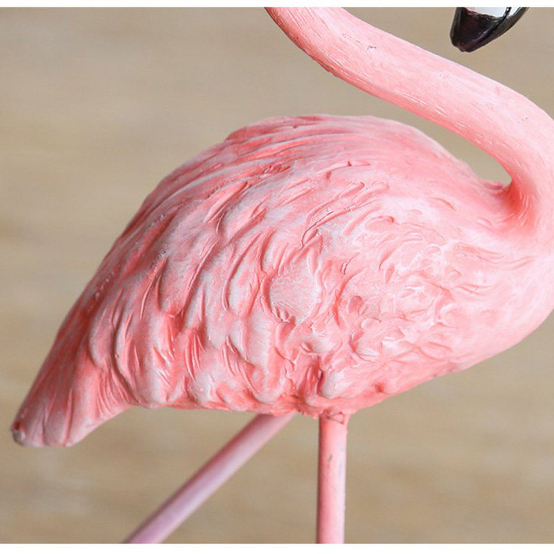 High Quality Resin Pink Flamingo Decor For Home Decoration Accessories Sculpture Figurine Gifts Wedding Supplies Home Decor (12)