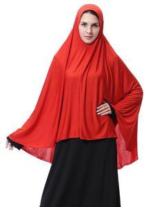 Image 4 - Ropa Hijab árabe para rezar para mujer, gorro hiyab musulmán largo islámico, Abaya para pañuelo, funda completa para la cabeza, cuello, bufanda