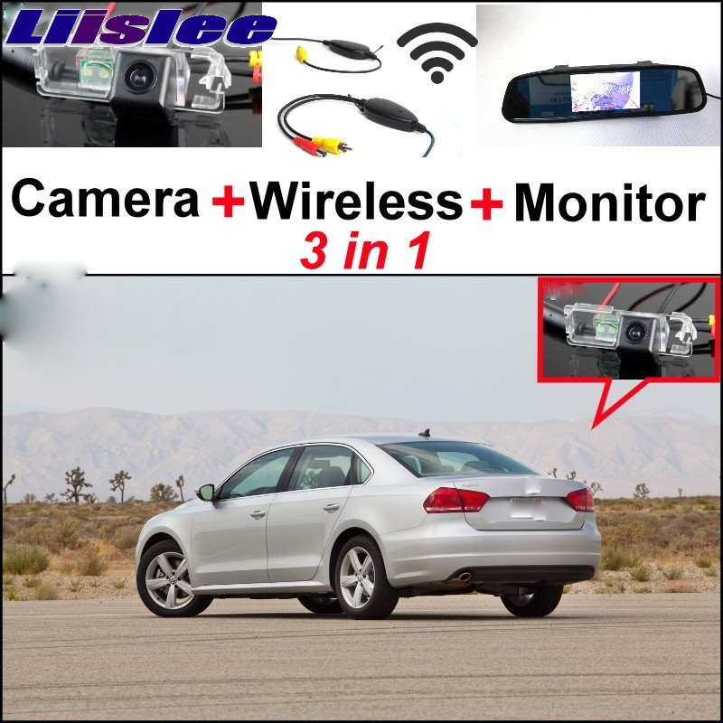 Liislee 3 in1 Special Rear View Camera + Wireless Receiver + Mirror Monitor Easy Parking System For Volkswagen VW Passat B6 B7 natural human hair women afro kinky wig curly wig short curling wigs cosplay