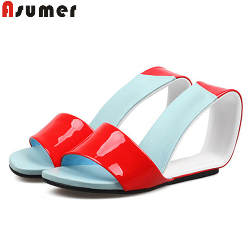 ASUMER 2019 hot sale new shoes woman wedges shoes elegant high heels shoes genuine leather shoes classic sandals women ASUMER 2019 hot sale new shoes woman wedges shoes elegant high heels shoes genuine leather shoes classic sandals women