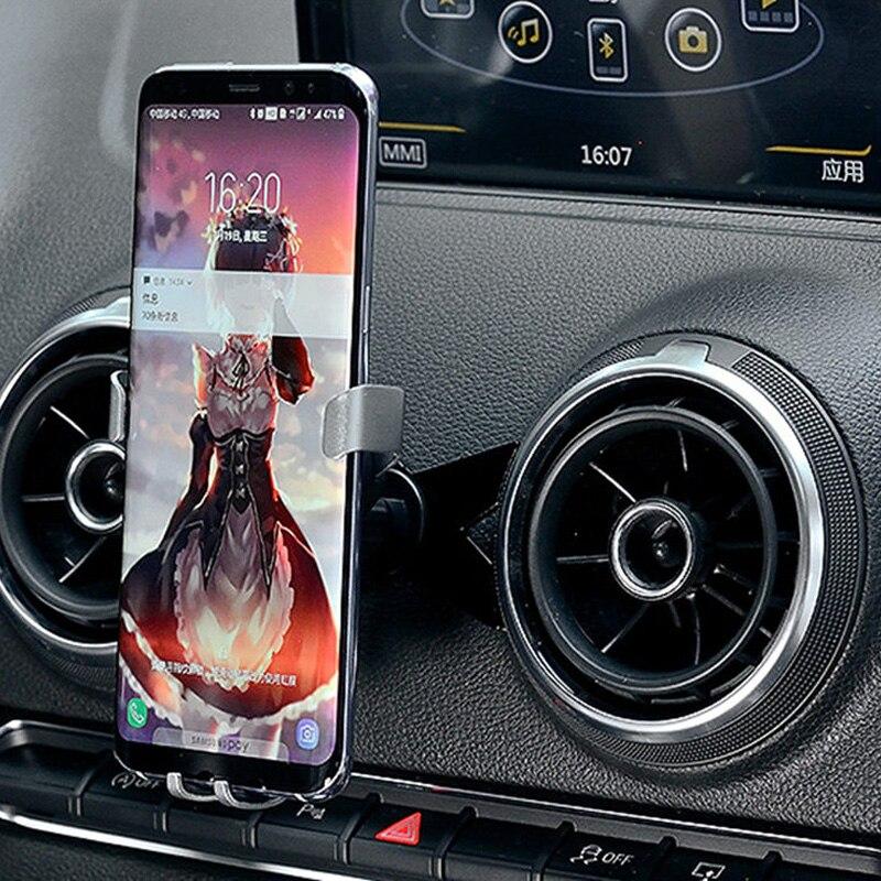 M Forme mobile phone holder car Air Vent/AutoBot Gravité De Voiture Sortie D'air Montage téléphone portable support pour Audi a3/S3 (2014-2018)