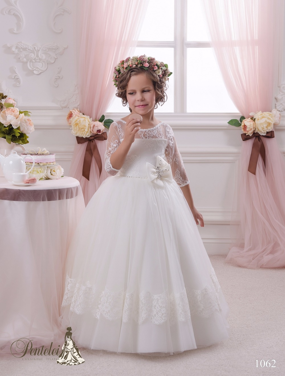 Holy First Communion Dresses Floor Length Tulle Ball Gown Infant Girl Pageant Baby Christening Dress Stunning Dresses 0-12 Year раскраски росмэн большая книга для самых маленьких