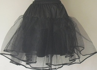 In Stock Free Drop Shipping Petticoats Black White Underskirts For Party Prom Clothes Big Size Full