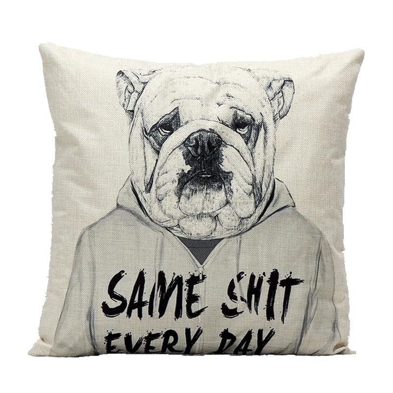 Creative Mangy câine Dl Pattern Bumbac Lenjerie Covoare Coperta - Textile de uz casnic